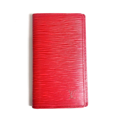 Louis Vuitton Epi Leather Long Wallet Red