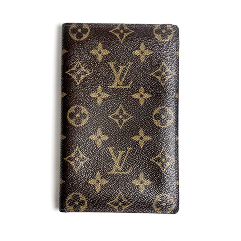 Louis Vuitton Monogram Passport Holder Brown