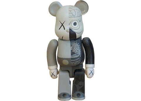 KAWS Be@rbrick Dissected 100% Grey