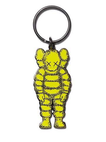 Kaws What Party Keyring Yellow
