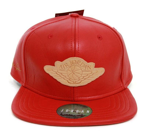 Just Don X Air Jordan Leather Hat Red