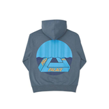Palace Tri-curtain Hooded Sweatshirt Blue