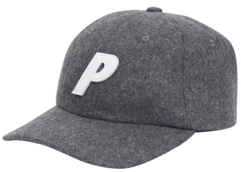 Palace P 6-Panel Wool Grey