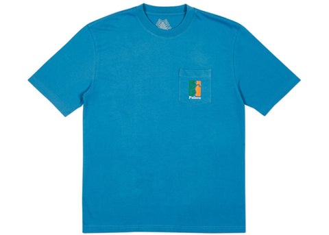 Palace (P)iss head T-shirt Blue