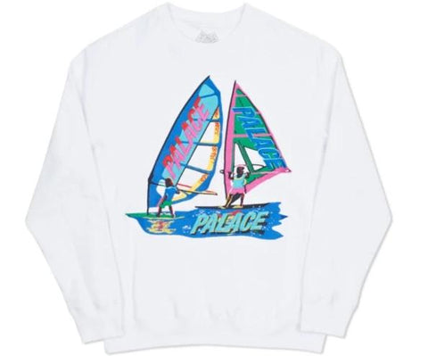 Palace Tri Sail Embroidered Crewneck