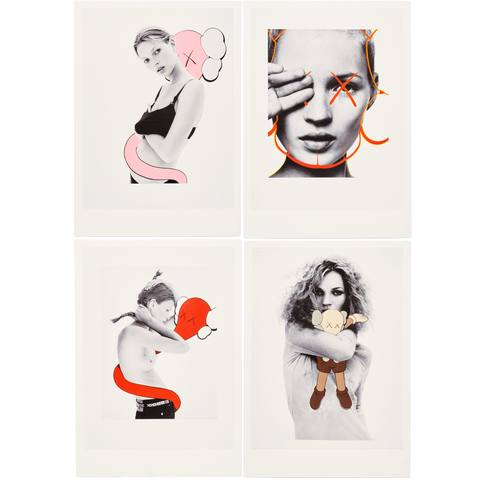 Kaws Postcard Set of 4 David Sims