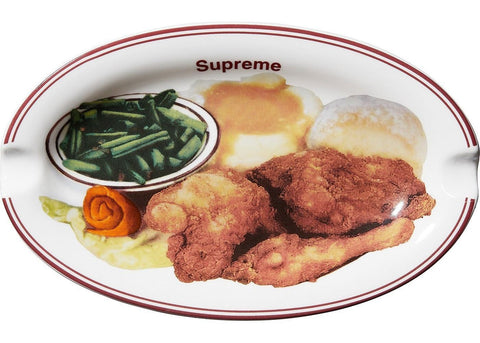 Supreme Chicken Dinner Plate Ashtray White