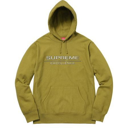 Supreme Reflective Excellence Hooded Sweatshirt Moss Green