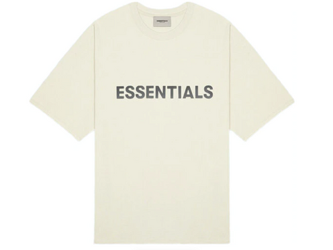FEAR OF GOD ESSENTIALS 3D Silicon Applique Boxy T-Shirt Cream