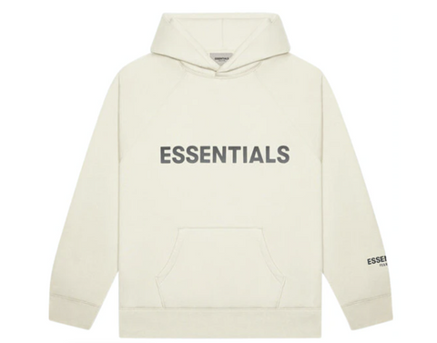 FEAR OF GOD ESSENTIALS Pullover Hoodie Applique Logo Cream