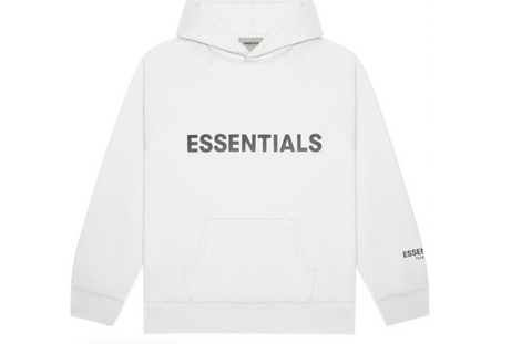 FEAR OF GOD ESSENTIALS Pullover Hoodie Applique Logo White