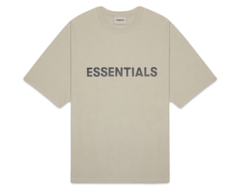 FEAR OF GOD ESSENTIALS 3D Silicon Applique Boxy T-Shirt Olive