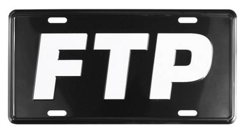 FTP Logo License Plate Black