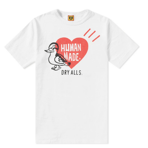 Human Made Print Duck Tee White