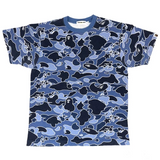 A Bathing Ape Psych Camo Tee Blue