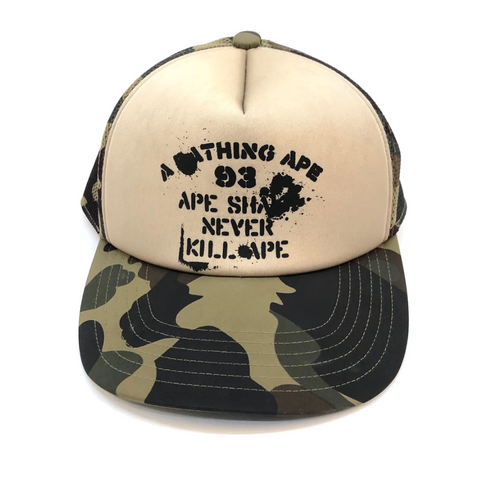 A Bathing Ape ASNKA Mesh Hat Camo