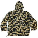 A Bathing Ape BOA Lined 1st Camo Pullover Jacket Green