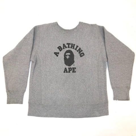 A Bathing Ape Champion College Crewneck Heather Grey
