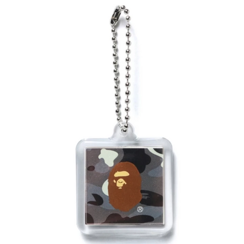 A Bathing Ape City Camo Keychain Black