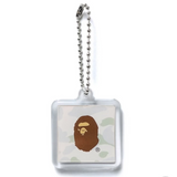 A Bathing Ape City Camo Keychain White