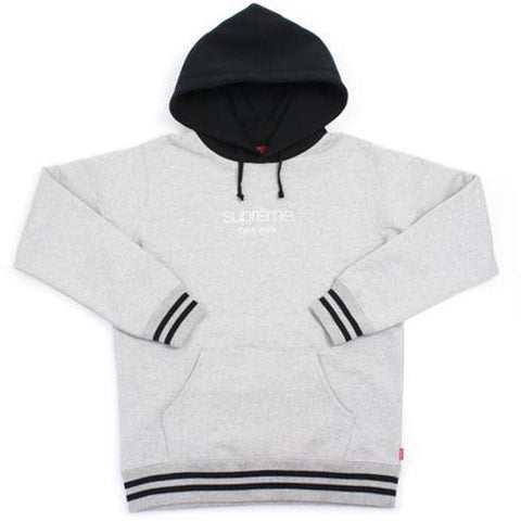 Supreme Classic Logo Two Tone Hoodie Heather Grey
