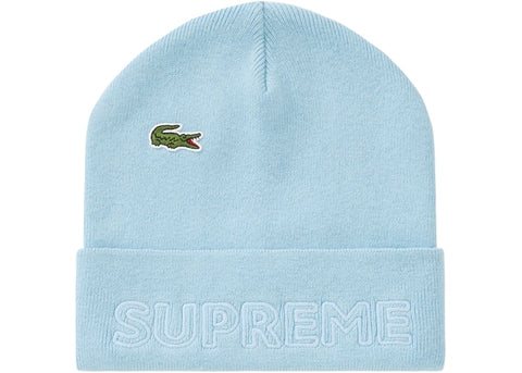 Supreme LACOSTE Beanie Light Blue