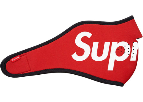 Supreme Logo Facemask Red