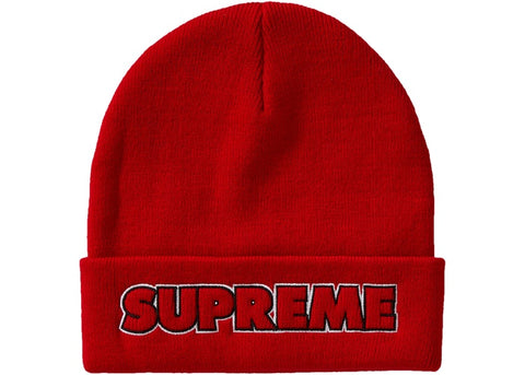 Supreme Outline Beanie (FW19) Red