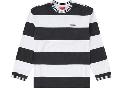 Supreme Printed Stripe L/S Top (FW19) Black
