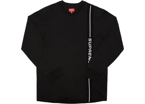 Supreme Vertical Logo Stripe L/S Top Black