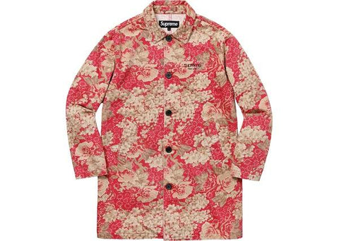 Supreme Washed Work Trench Coat Floral