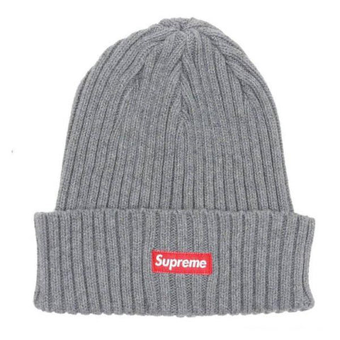 Supreme Ribbed Beanie Charcoal