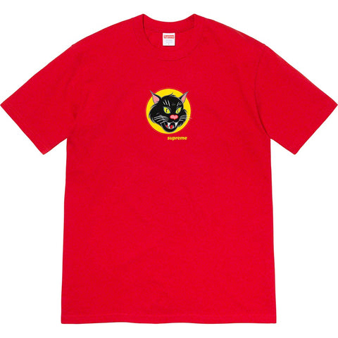 Supreme Black Cat Tee Red
