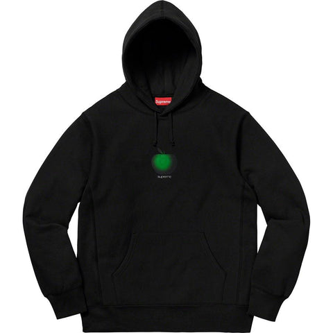 Supreme Apple Hooded Sweatshirt Black