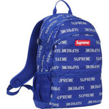 Supreme Blue Reflective Repeat Logo Backpack
