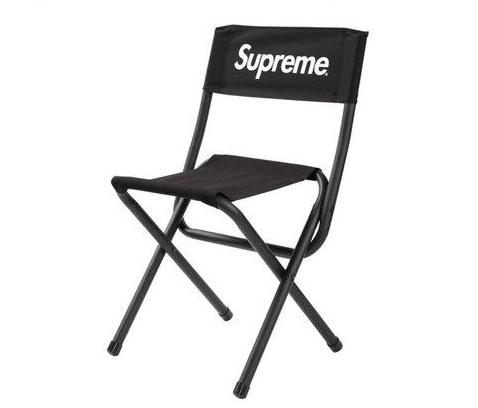 Supreme/Coleman Black Folding Chair