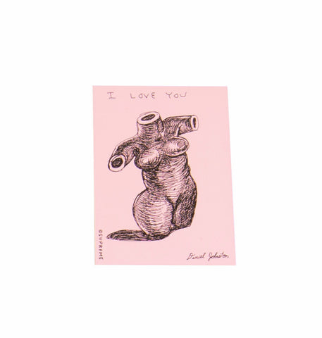 Supreme Daniel Johnston I Love You Sticker Pink