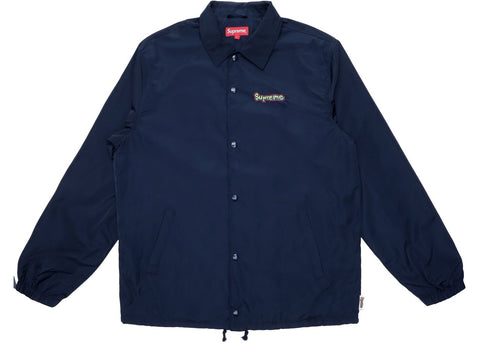 Supreme Gonz Logo Navy Coaches Jacket