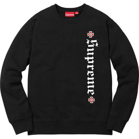 Supreme Independent Fuck the Rest Crewneck Black