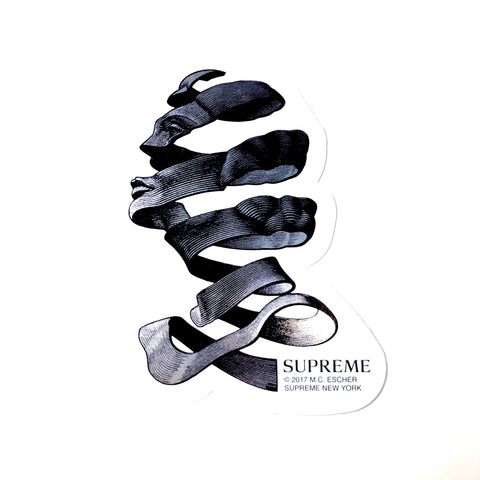 Supreme M.C. Escher Sticker Silver