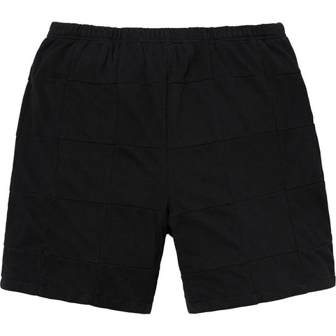 Supreme Patchwork Pique Shorts Black