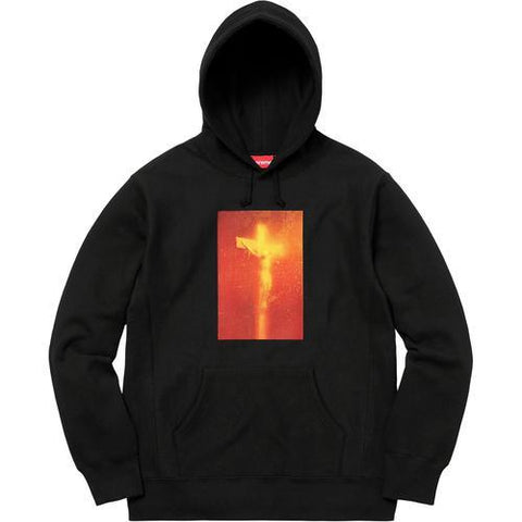 Supreme Piss Christ Hooded Sweatshirt Black