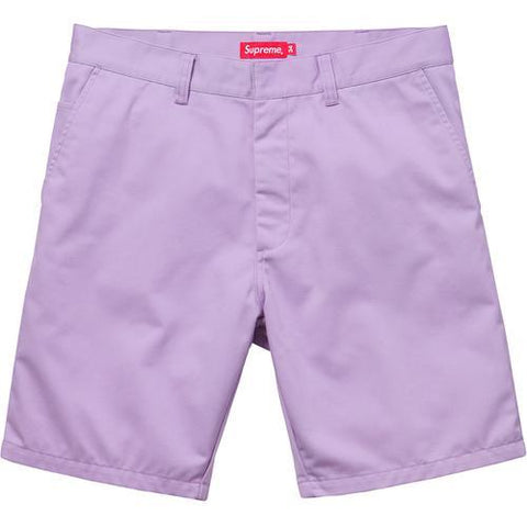 Supreme Purple Work Shorts