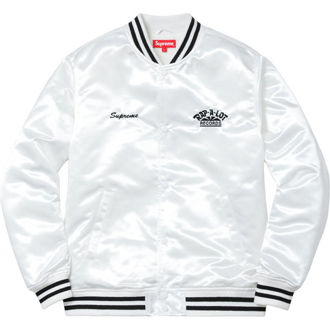 Supreme Rap A Lot Records Satin Club Jacket White