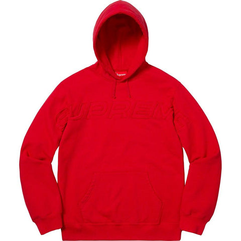 Supreme Set In Logo Hooded Sweatshirt Red