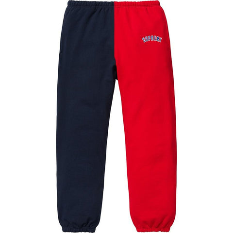 Supreme Split Sweatpants Navy