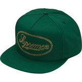 Supreme Studded Script Logo 5-Panel Green