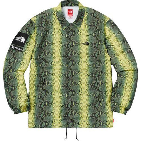 Supreme/The North Face Snakeskin Taped Seam Coaches Jacket Green