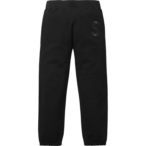 Supreme Tonal S Logo Sweatpants Black