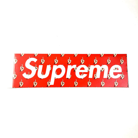 Supreme Undercover Middle Finger Box Logo Sticker Red